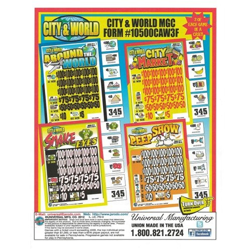 """City & World"" Jar Tickets Game of Chance at Sears.com"