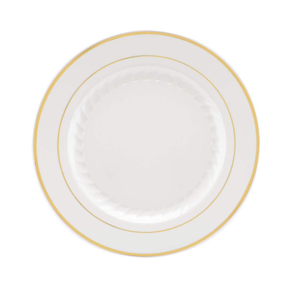 white and gold white and gold plates