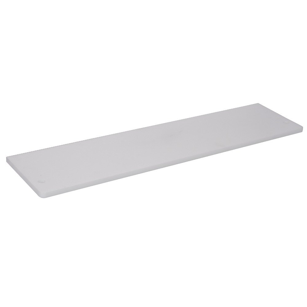 "APW Wyott 32010637 Equivalent 60 1/8"" x 7 1/2"" Poly Cutting Board for 4 Well Sealed Element Steam Table"