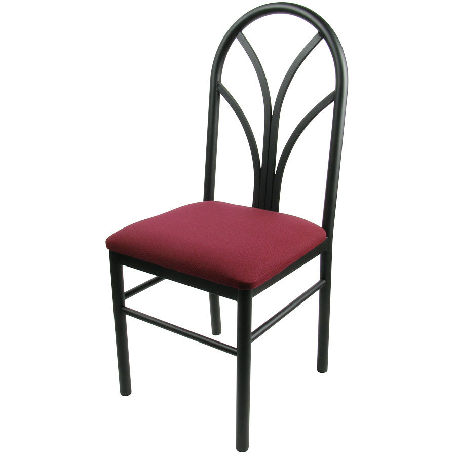 maroon 4 spoke restaurant dining room chair with 1 3 4 39 39 padded seat
