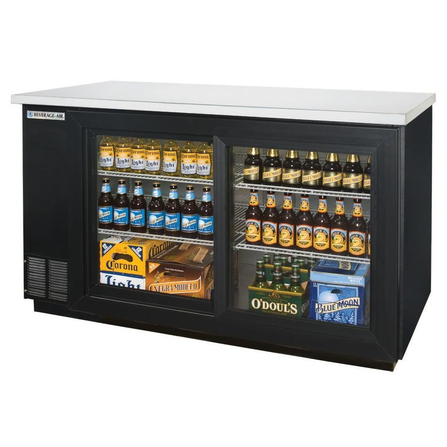 Beverage Air (Bev Air) BB58GSY-1-B 59 inch Back Bar Refrigerator with 2 Sliding Glass Doors 115