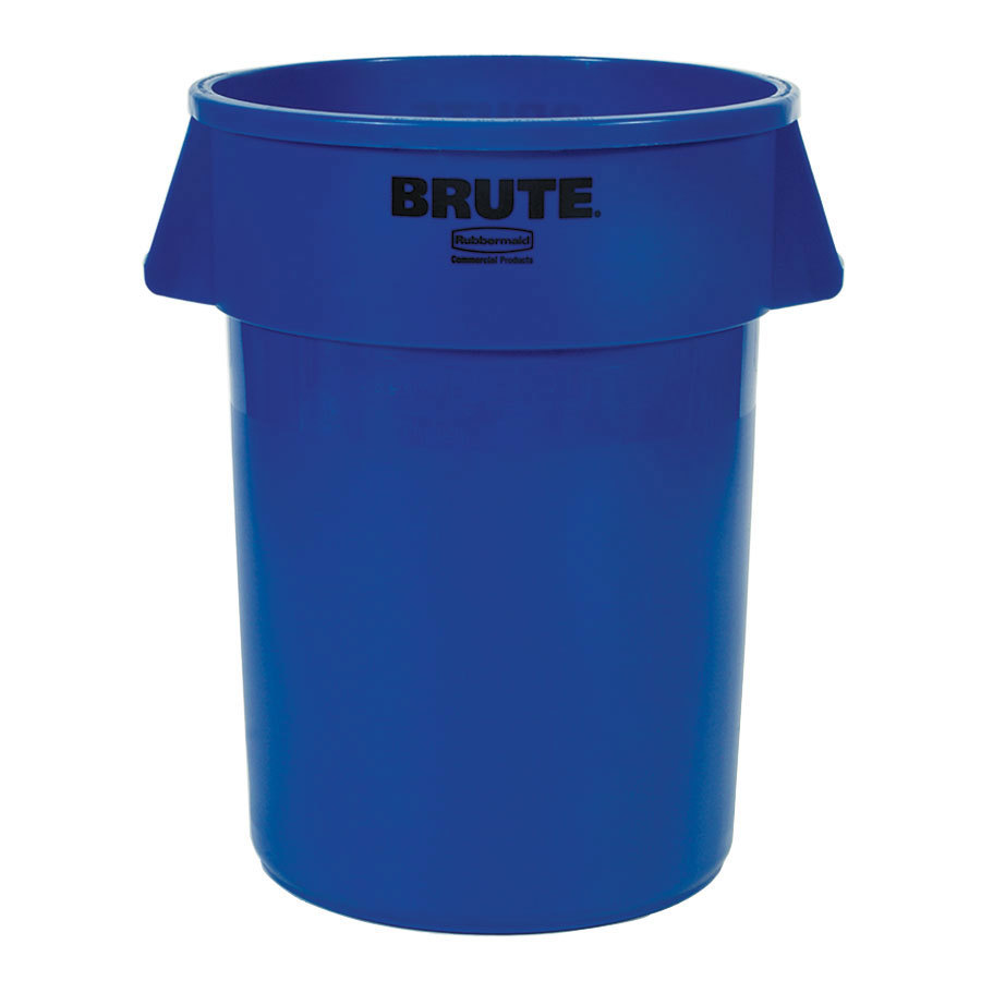 Rubbermaid Brute FG264300BLUE Blue 44 Gallon Trash Can