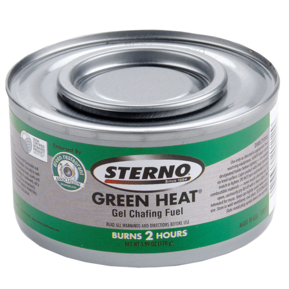 Sterno CandleLamp 20112 Green Heat Chafing Dish Fuel - 2 Hour - 72 / Case