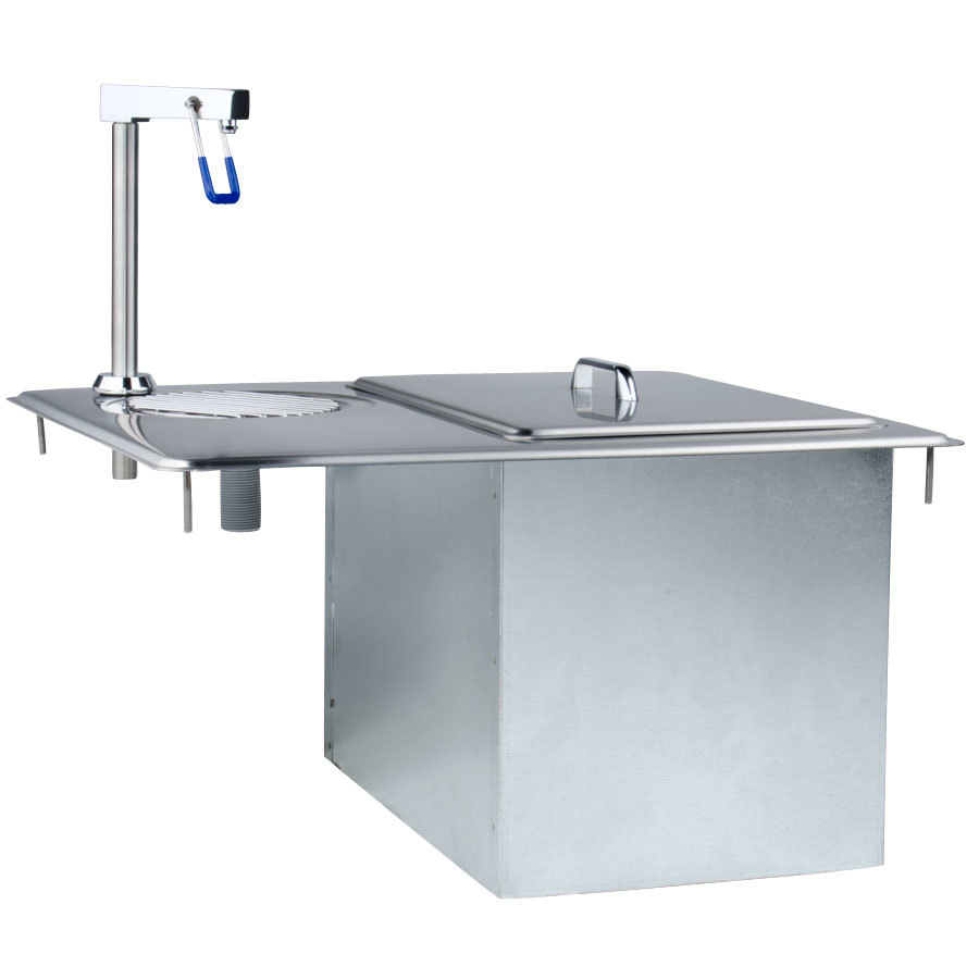 Delfield 204 Drop In Water Station / Glass Filler With Ice Storage Chest / Bin Scratch and Dent