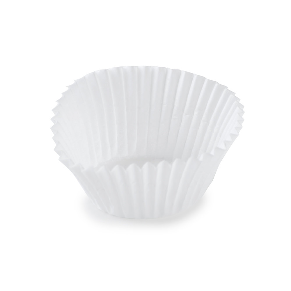 White Fluted Baking Cup 1 1/4 inch x 7/8 inch - 10,000 / Case
