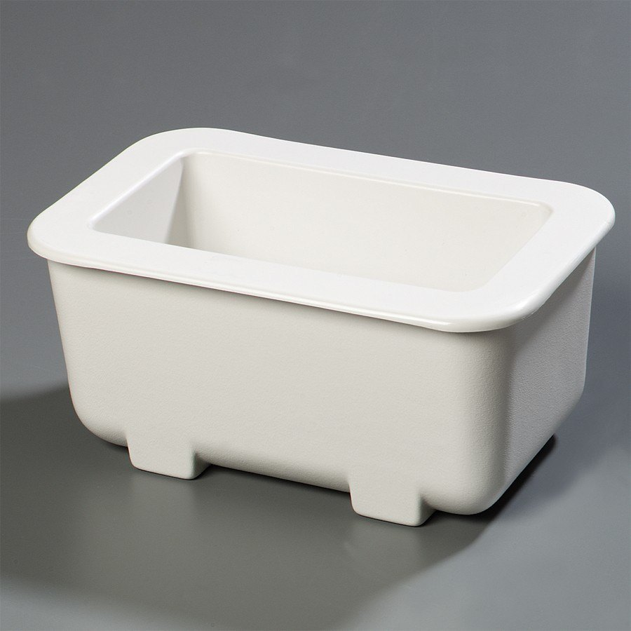 "Carlisle CM104502 Coldmaster 1/3 Size White Cold Food Pan Holder - 6"" Deep"