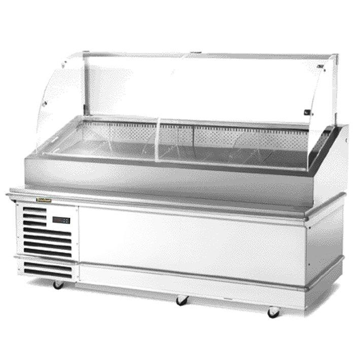 "Traulsen TD078HT-1 Stainless Steel 78"" Deli Case with Casters - Specification Line"