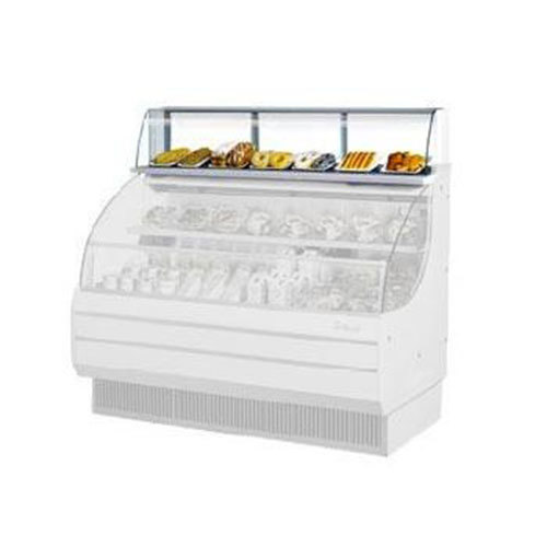 "Turbo Air TOMD-75-L 75"" Top Dry Display Case for Turbo Air TOM-75L Low Profile Open Display Case - White"