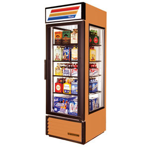 True GEM-23 Copper Glass End Merchandiser - 23 Cu. Ft.