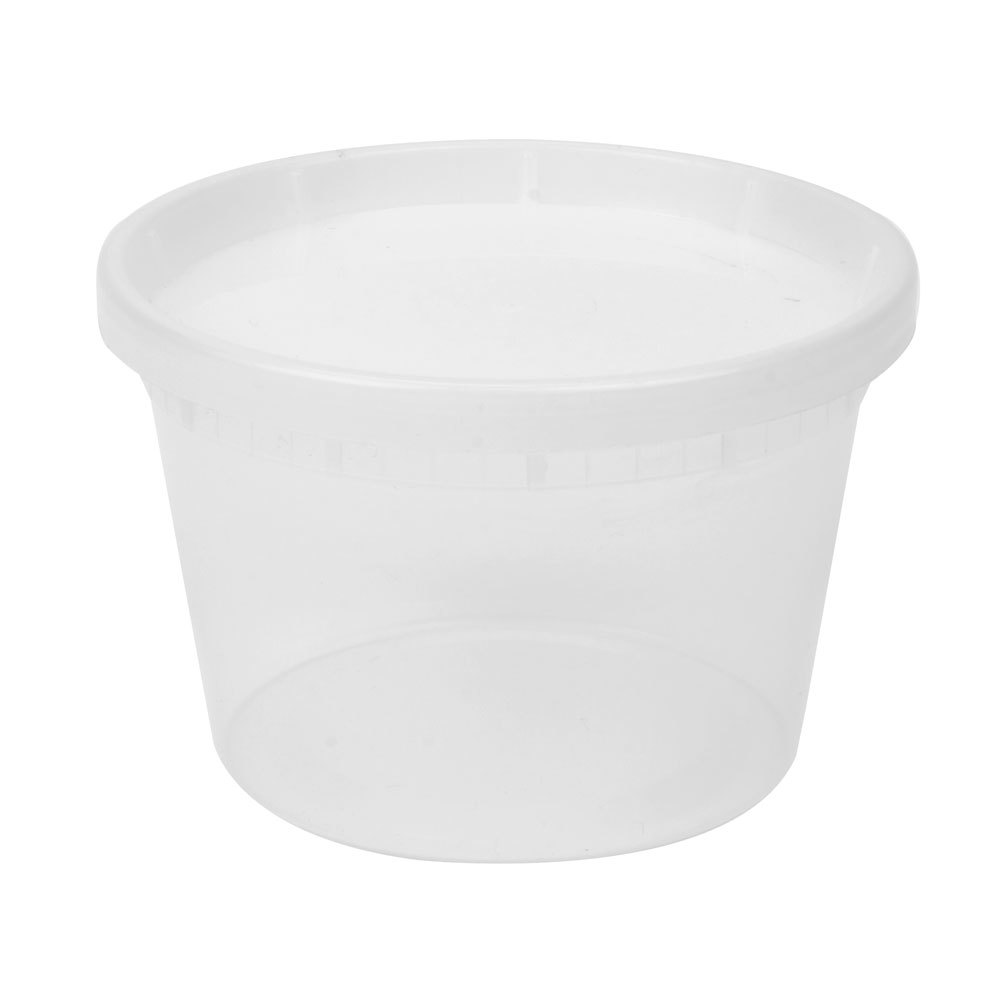 16 Oz Microwavable Translucent Plastic Deli Container