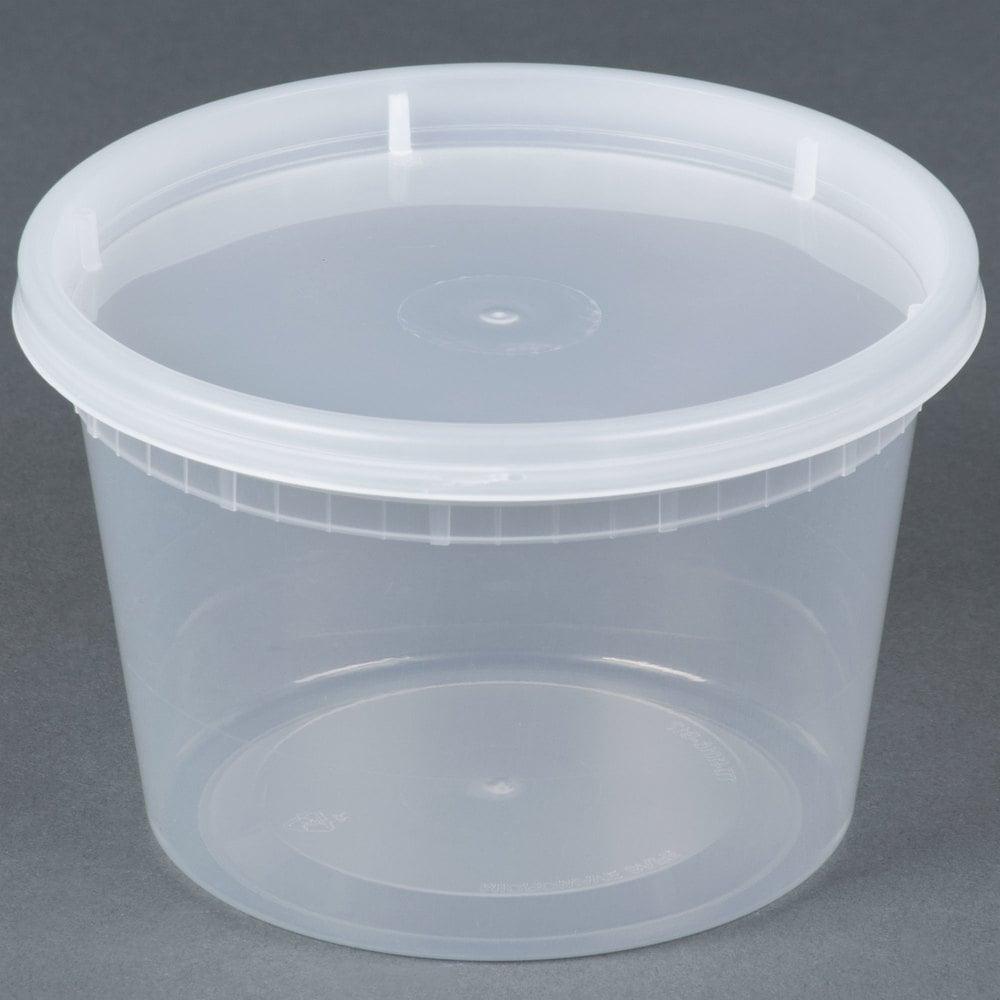 16 oz. Microwavable Translucent Plastic Deli Container ...