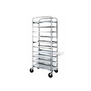 "Winholt SS-126 End Load Stainless Steel Platter Cart - Six 12"" Trays"