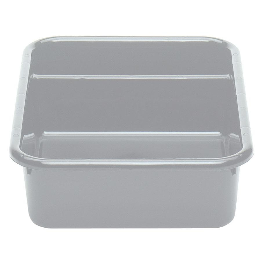 "Cambro 1621CBP180 Cambox 21"" x 16"" x 5"" Light Gray Polyethylene Plastic Bus Box"