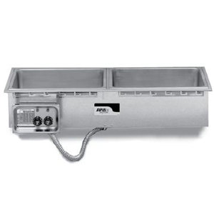 APW Wyott HFWS-3 Slimline Insulated Three Pan Drop In Hot Food Well