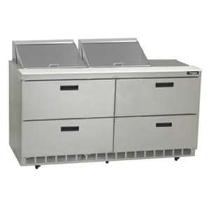 "Delfield D4464N-12 64"" Salad Prep Refrigerator with Four Drawers"