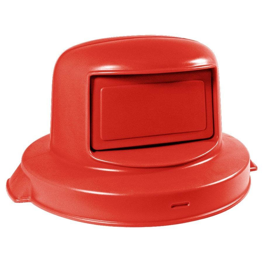 55 gallon red dome top trash can lid. Black Bedroom Furniture Sets. Home Design Ideas