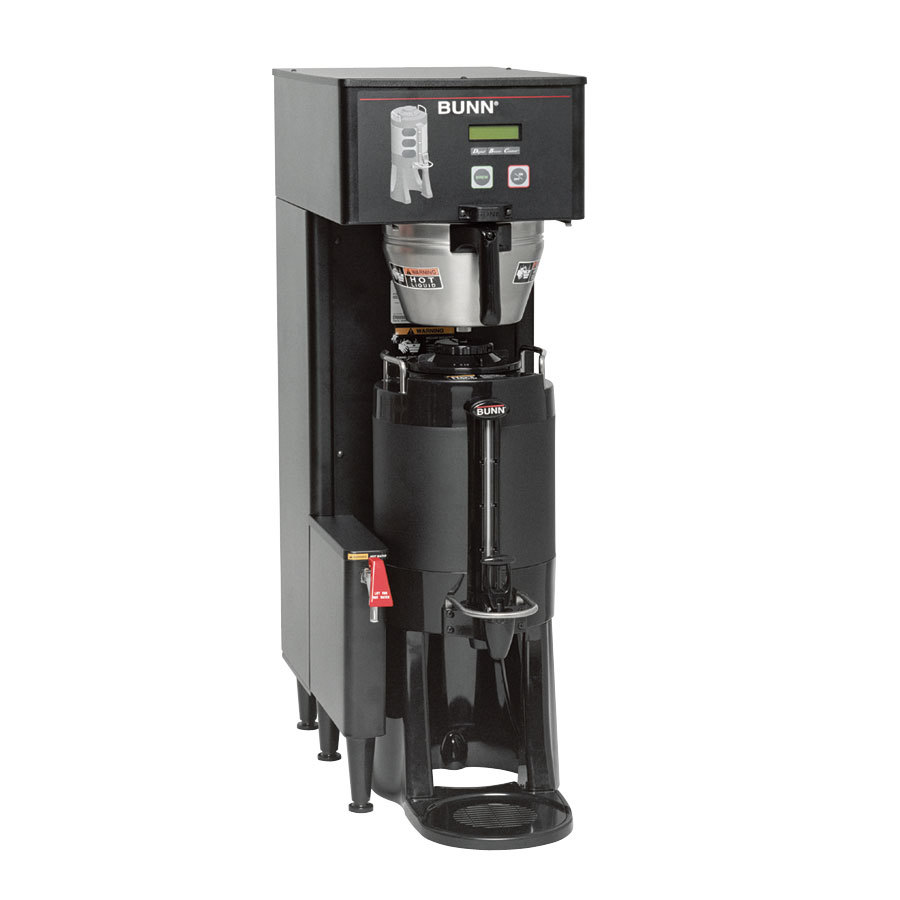 Bunn TF DBC BrewWise ThermoFresh Single Brewer with Funnel Lock - Black 120/240V (Bunn 34800.0001)