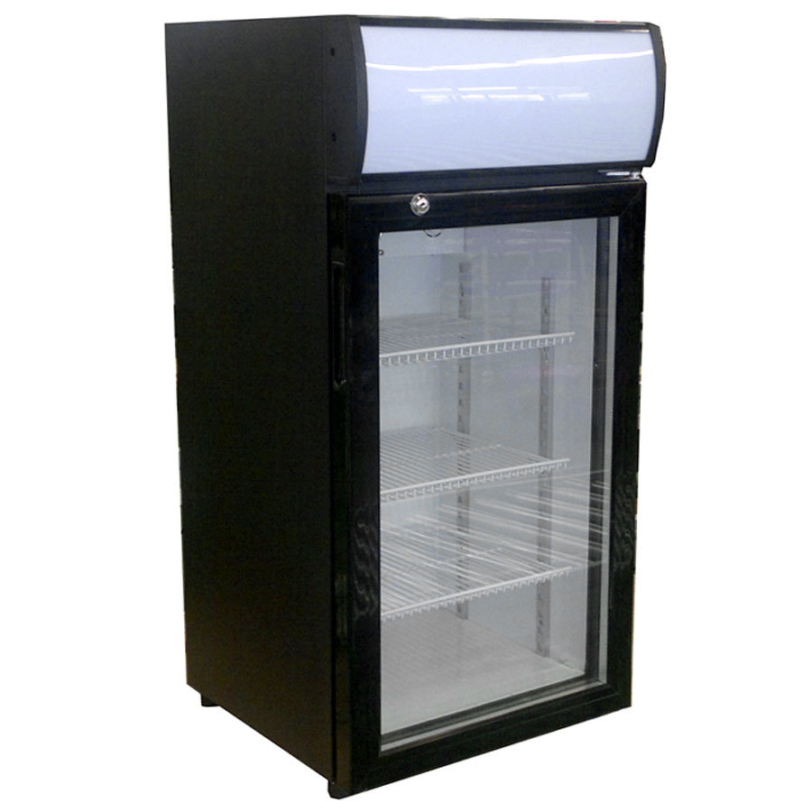 Countertop Beverage Cooler : Beverage-Air CTR3-1-B-LED Black Countertop Display Refrigerator with ...