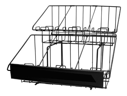 6 Compartment Two Tier Airpot Rack With Drip Trays