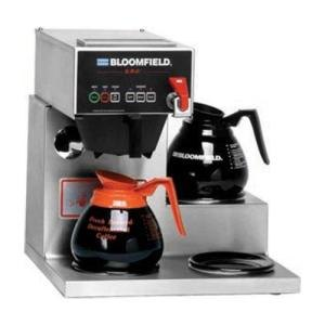Bloomfield 1072D3F E.B.C. 3 Warmer Right Stepped Automatic Coffee Brewer - Touchpad Controls,