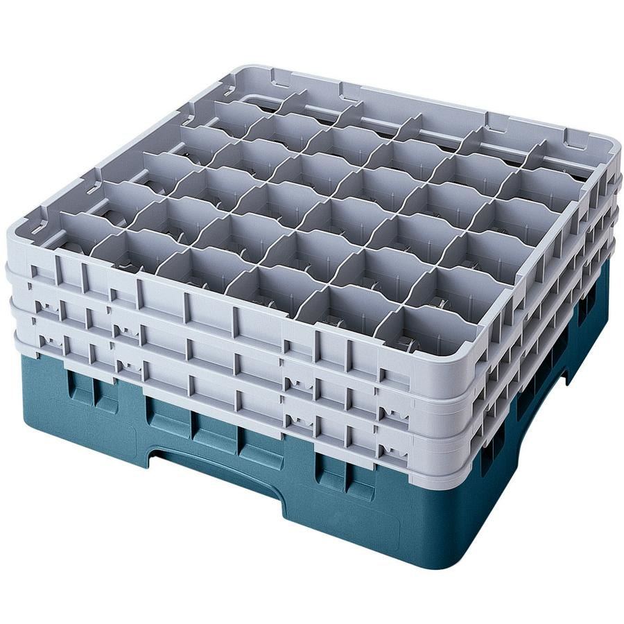 Cambro 36S958414 Teal Camrack 36 Compartment 10 1/8 inch Glass Rack