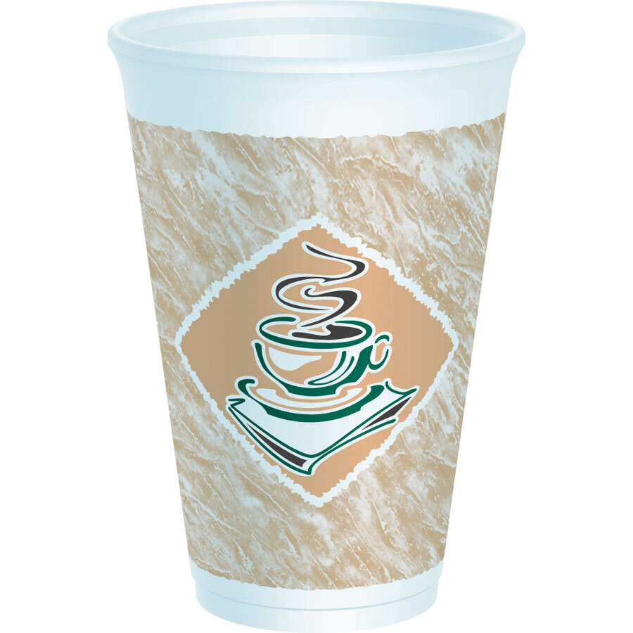 Dart 16X16G 16 oz. Customizable Espresso Foam Cup 1000/Case