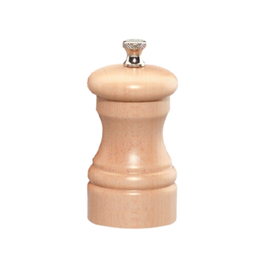 Chef Specialties 04350 Professional Series Customizable Capstan Natural Maple Pepper Mill - 4""