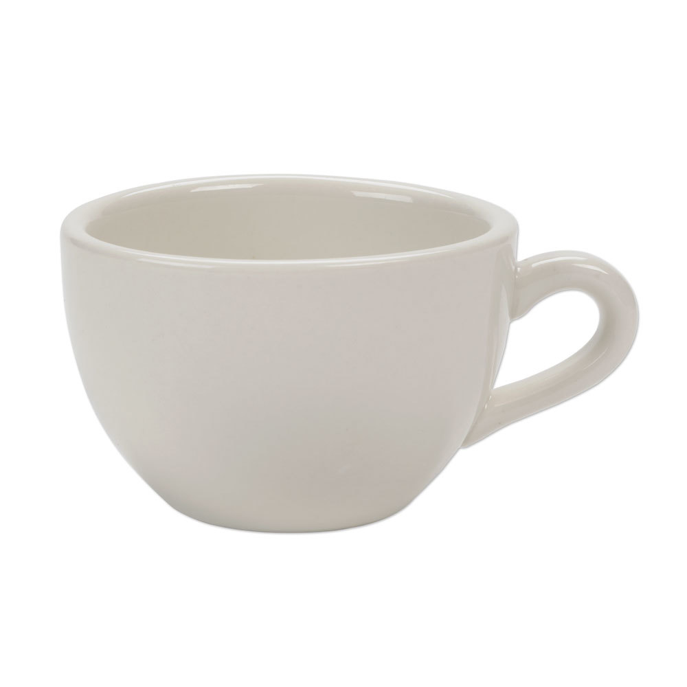 Narrow Rim 7 oz. American White (Ivory/Eggshell) China Coffee Cup / Mug - 36 / Case