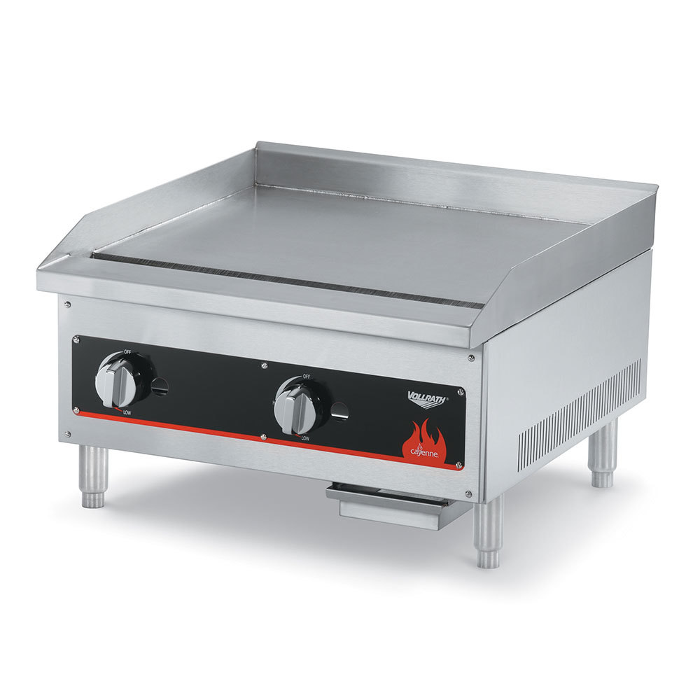 Vollrath 40720 Cayenne 24 inch Flat Top Gas Countertop Griddle (Anvil FTG9024) - Manual Control