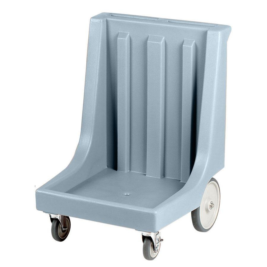 "Cambro CD2020HB401 Slate Blue Camdolly Dish Rack / Glass Rack Dolly with 10"" Rear Wheels - 350 lb."