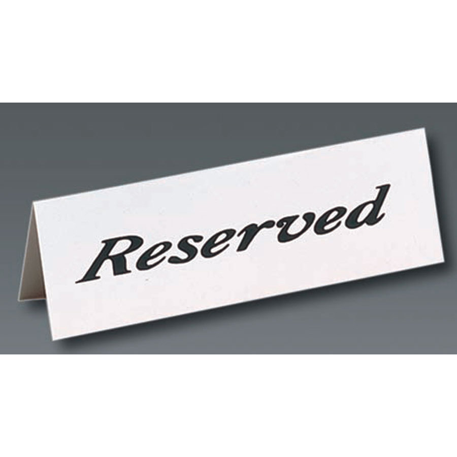Reserved Table Signs Template Table Tent Quot Reserved Quot Sign