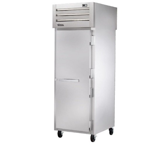 true stg1hpt1s1s series passthrough heated holding cabinet with solid doors