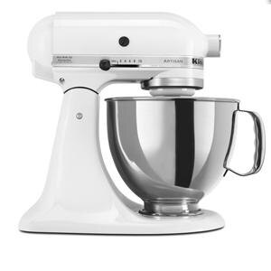 KitchenAid KSM150PSWH White Artisan Series 5 Qt. Stand Mixer