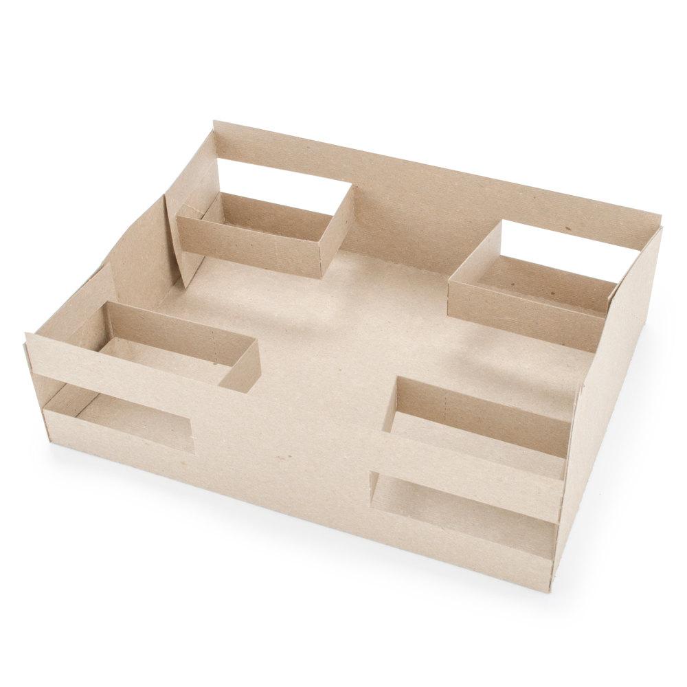 Designers Folding Box Corp 10auto Auto Tray 4 Cup Pop Up