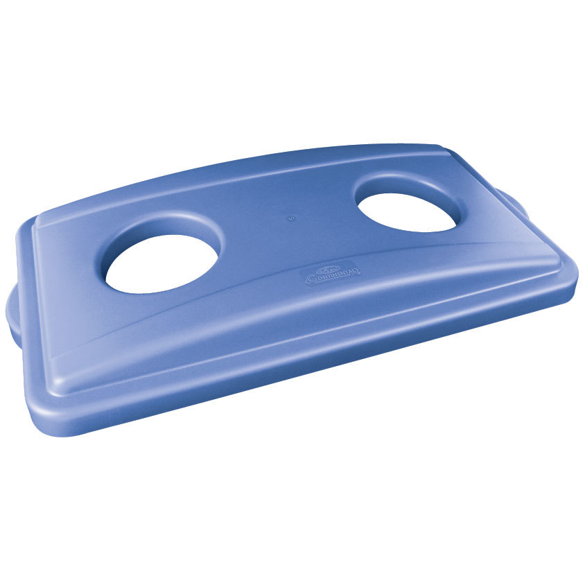Continental 7316BL Wall Hugger Blue Recycle Lid with Holes at Sears.com