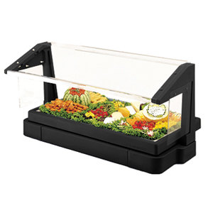 Black Cambro BBR480110 4' Buffet / Salad Bar with Sneeze Guard