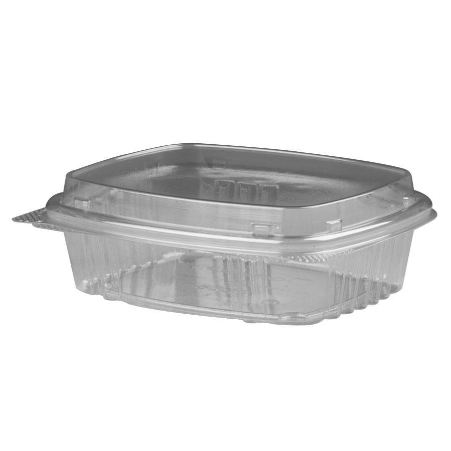"Genpak AD08F 5 3/8"" x 4 1/2"" x 2"" 8 oz. Clear Hinged Deli Container with High Dome Lid - 200 / Case at Sears.com"