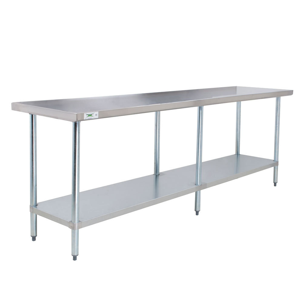 Regency 18 Gauge 304 Stainless Steel Commercial Work Table - 24 inch x 96 inch with Undershelf