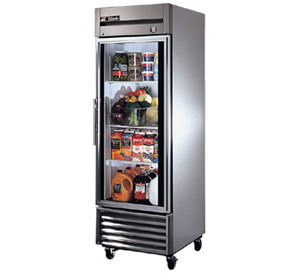 True T-23G Single Glass Door Reach In Refrigerator
