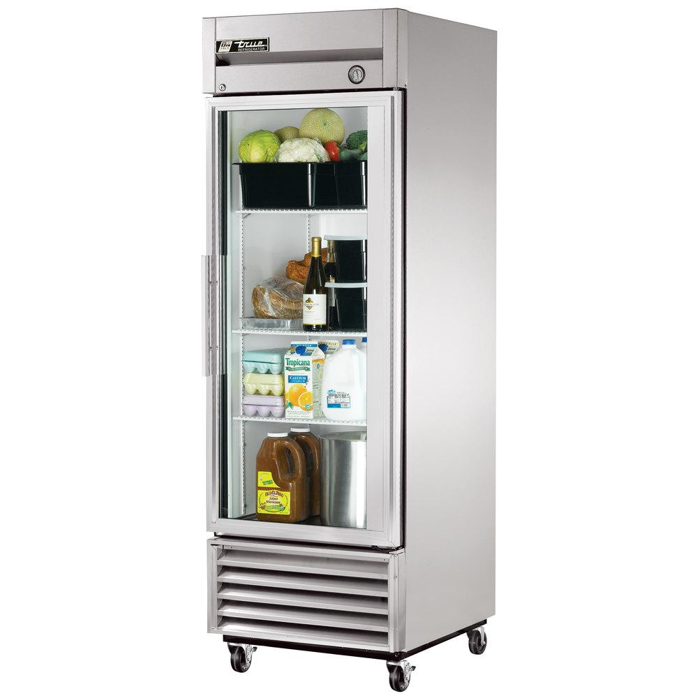 True t 23g single glass door reach in refrigerator for 1 glass door refrigerator