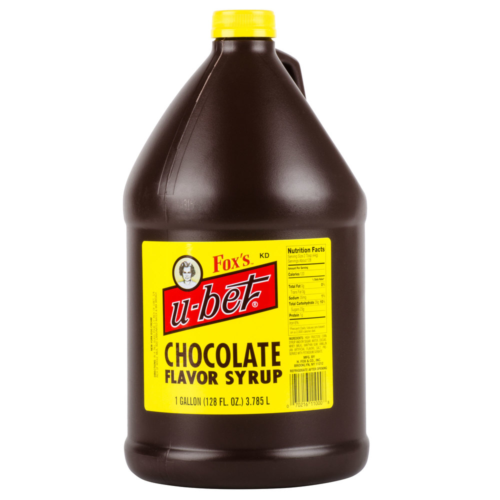Fox S U Bet Chocolate Syrup 1 Gallon