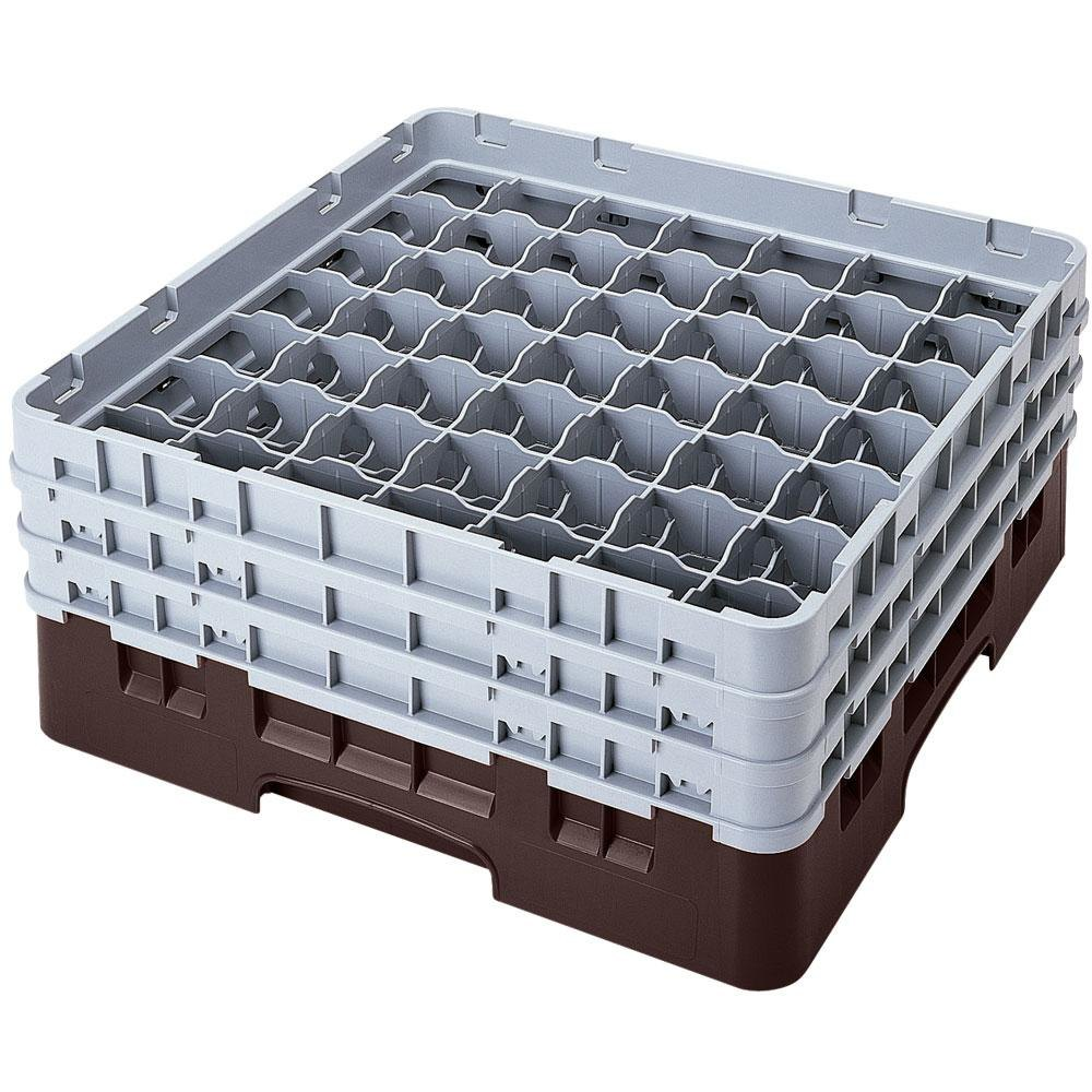 "Cambro 49S638167 Brown Camrack 49 Compartment 6 7/8"" Glass Rack"