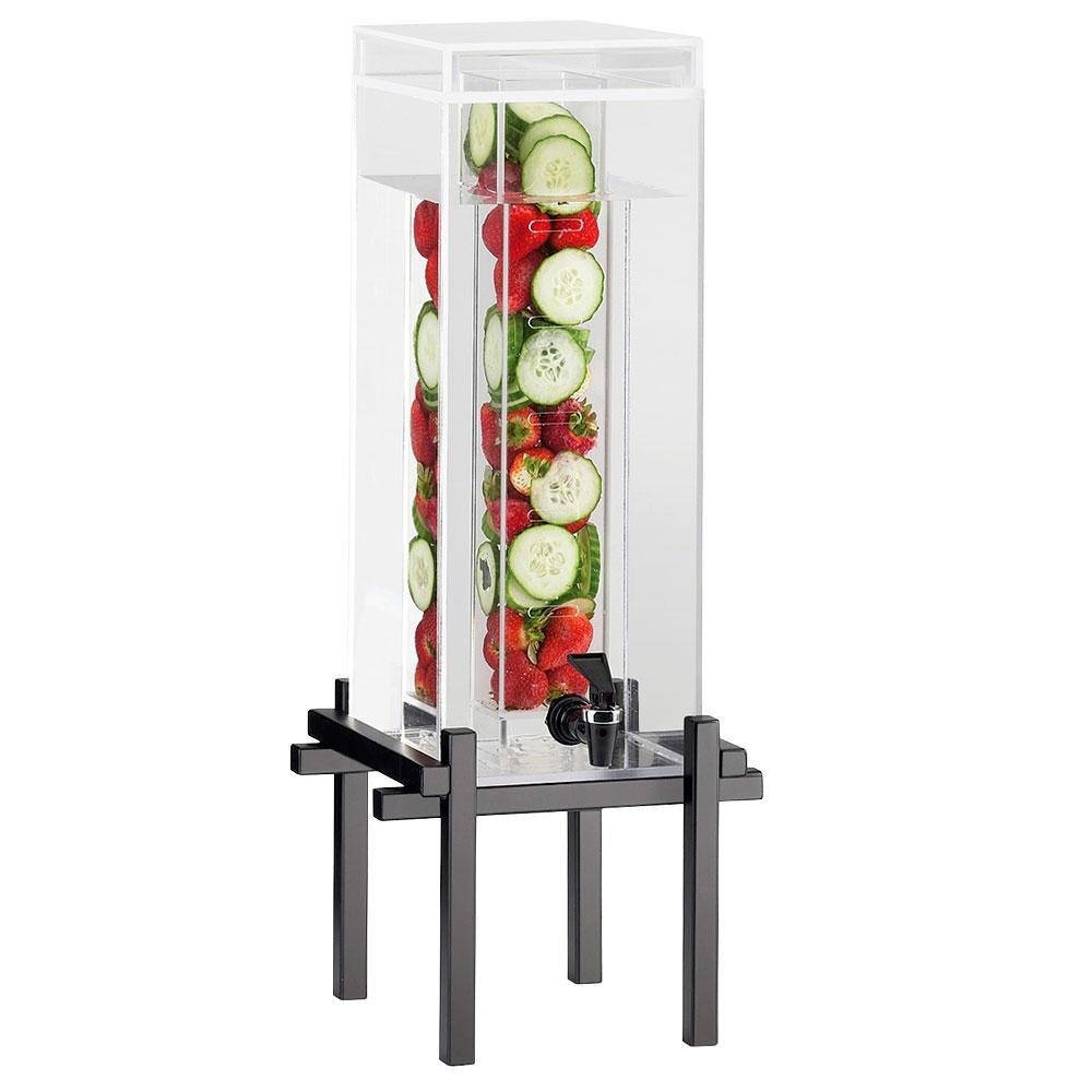Cal-Mil 1132-3INF-13 Black One By One 3 Gallon Beverage Dispenser with Infusion Core