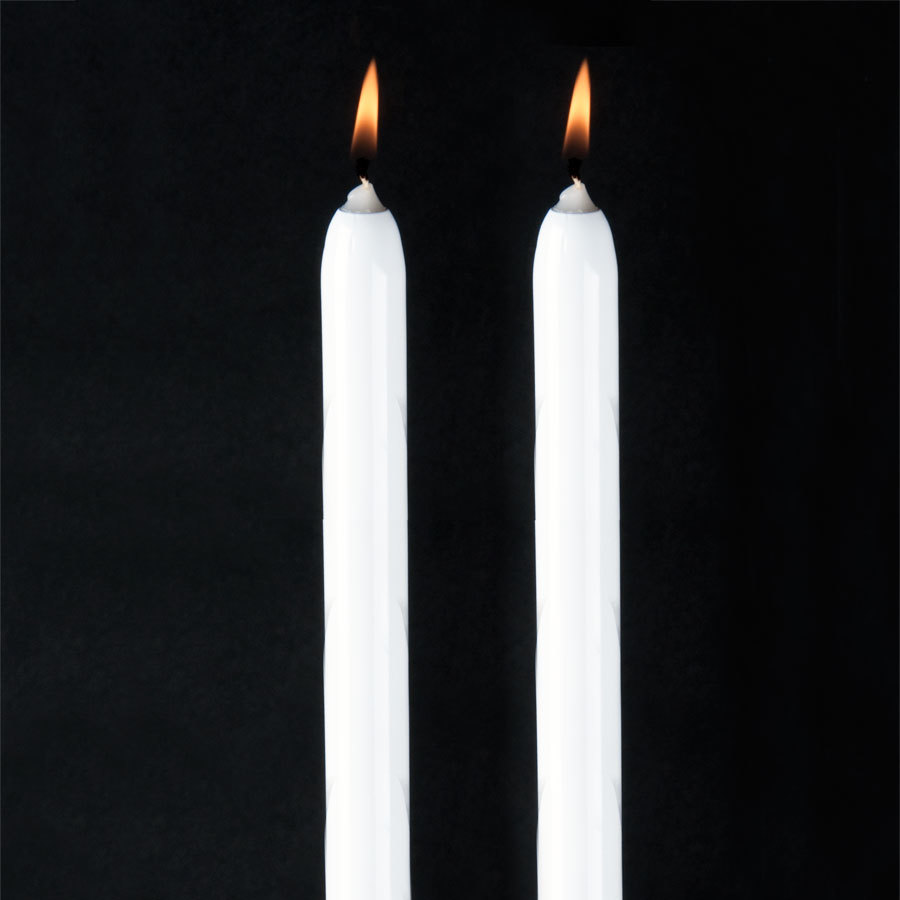 "Will & Baumer 15"" White Chace Candle 2 / Pack"