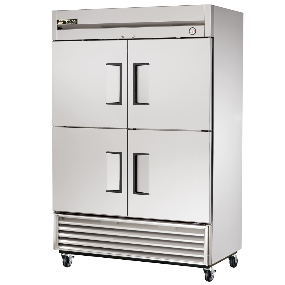 "True T-49-4 55"" Solid Half Door Reach In Refrigerator"