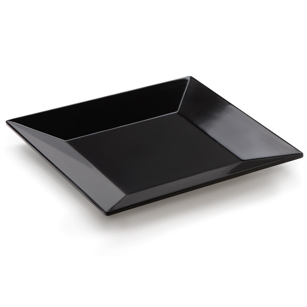 GET ML-103-BK 8 inch Black Siciliano Square Plate - 12 / Case