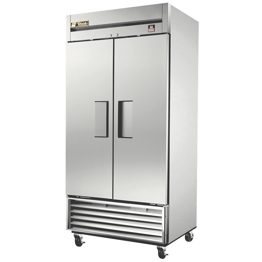 True TS-35F 40 inch Stainless Steel Two Section Reach In Freezer - 35 Cu. Ft.