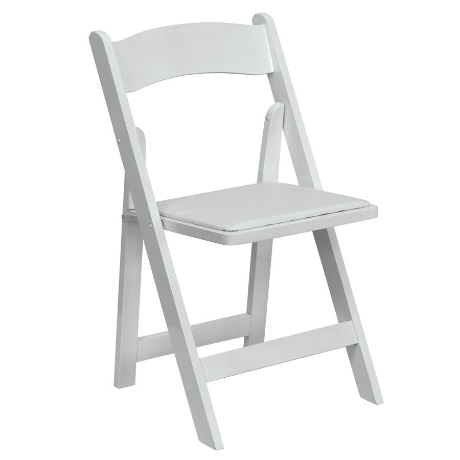 Flash Furniture XF 2901 WH WOOD GG White Wood Folding Chair With