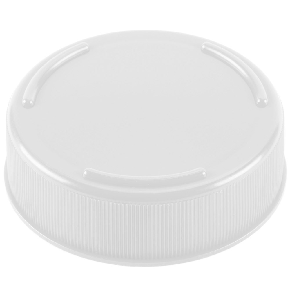 Tablecraft 63FCAP White End Cap for Bottles with 63 mm Opening - 12 / Pack
