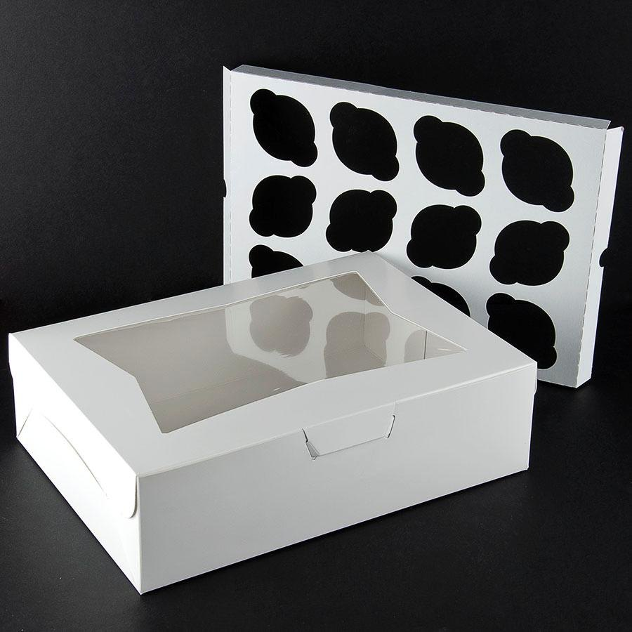 Window Cupcake Box with Insert 14 inch x 10 inch x 4 inch - 10 / Pack